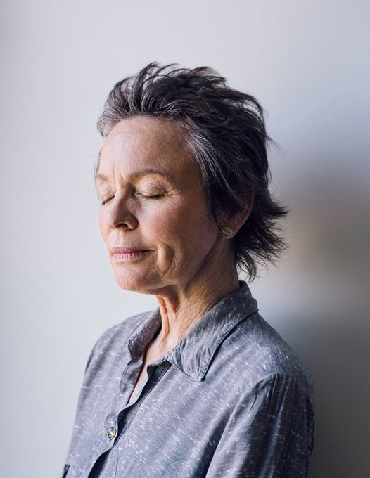 And the voice said: Happy birthday to Laurie Anderson, one of my all time