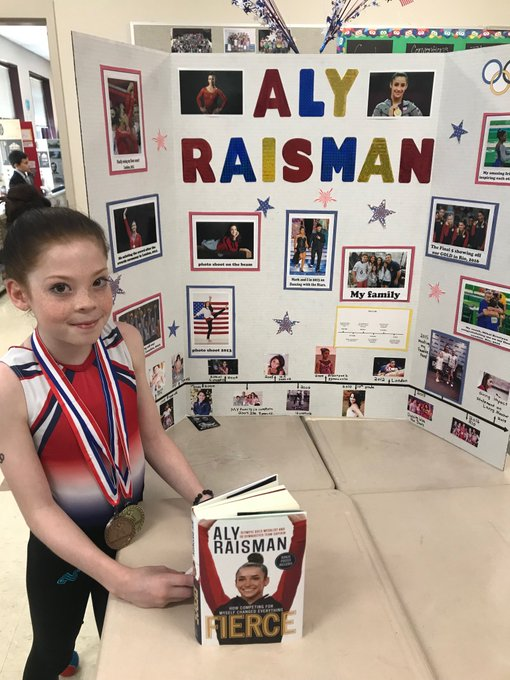 My daughter did a presentation on her hero today. Happy early birthday from Emma