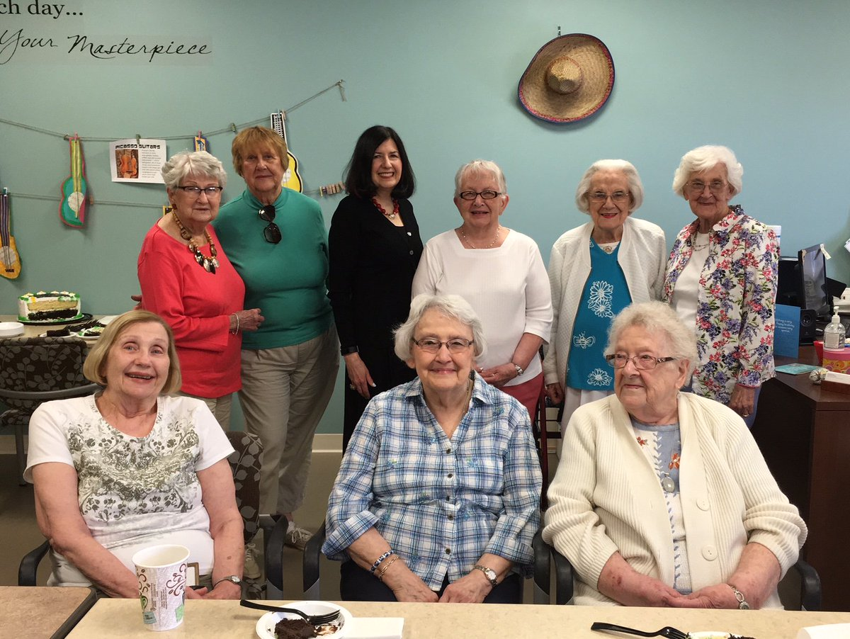 test Twitter Media - Meet my new friends.  The lovely ladies at Cumberland Woods Village, UPMC's Independent Living Retirement Community, who came to hear my talk on Truth in Fiction:  Lessons Learned from Fairy Tales.  You're never too old to enjoy fairy tales, even at the age of 96! https://t.co/nxFLlhCozl