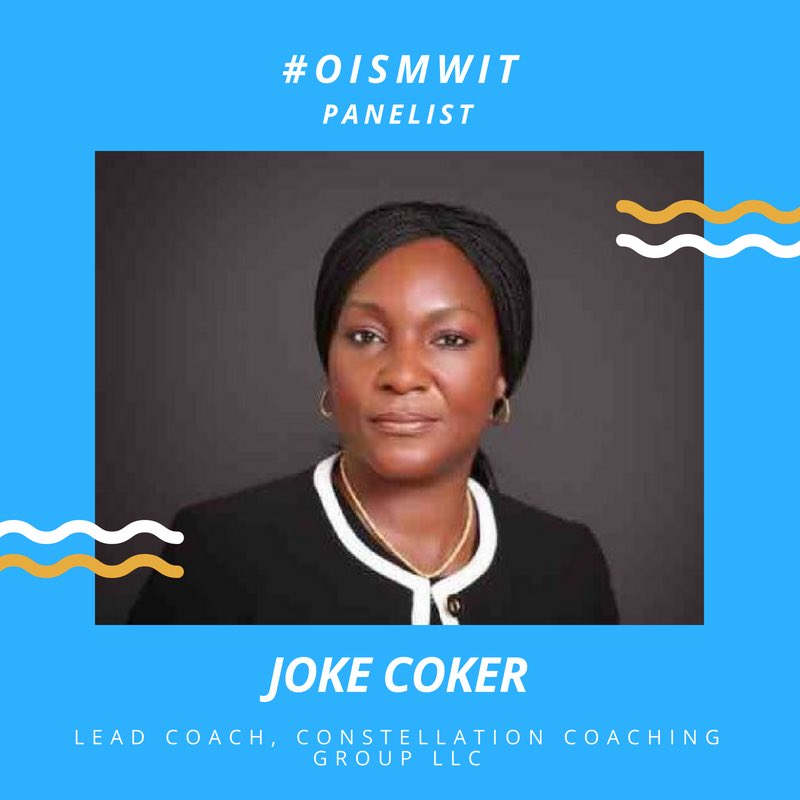 test Twitter Media - Oyejoke Coker is the Executive Officer, Constellation Coaching Group LLC. She is a Licensed Master Practitioner of NLP (Neuro-Linguistic Programming). She has over 25 years of successful corporate experience. A University of Lagos bachelor's degree holder. #OISMWIT https://t.co/YQ6LvDD7By
