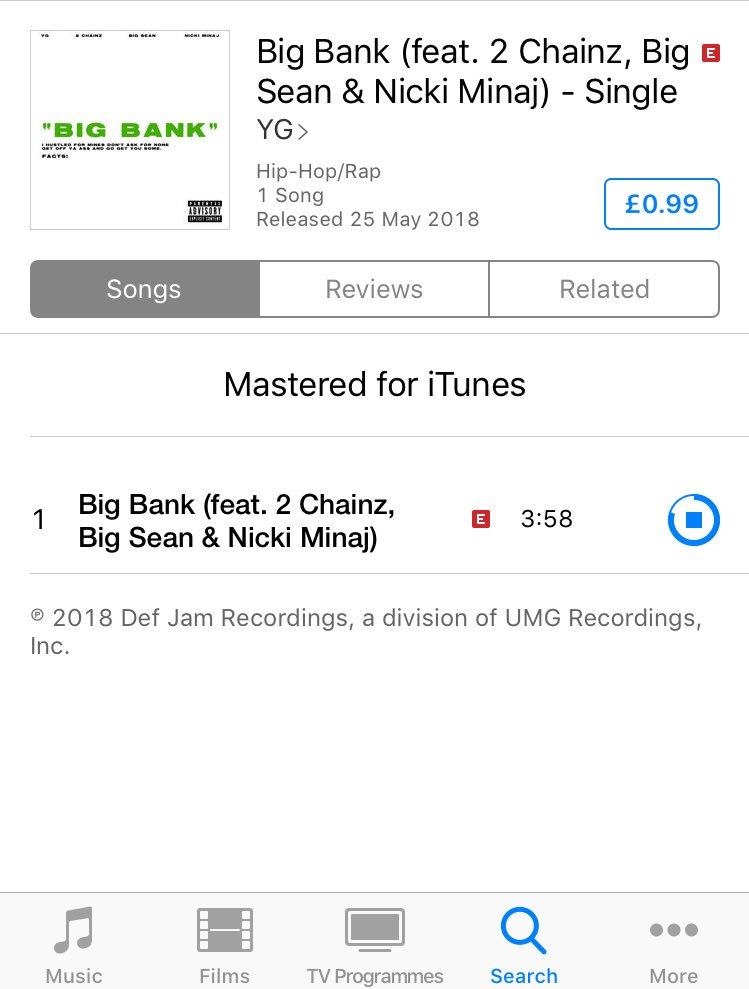 "RT @TrinMinaj15: Buy & stream ""Big Bank"" now!!!! ????????????????????????????????☁️ #bigbank #queen https://t.co/HzhjnsWluR"