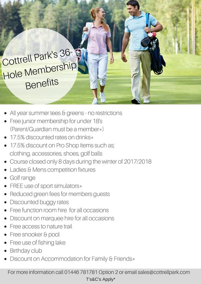 test Twitter Media - Become a Member at Cottrell Park Golf Resort and receive incredible benefits.   Call 01446 781781 Option2 or email sales@cottrellpark.com for our Membership categories and prices. https://t.co/r6G33EwUk8