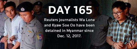 Two @Reuters journalists have been detained in Myanmar for 165 days. See full coverage: https://t.co/gTK6YqK1he https://t.co/KrjmTZxcjf