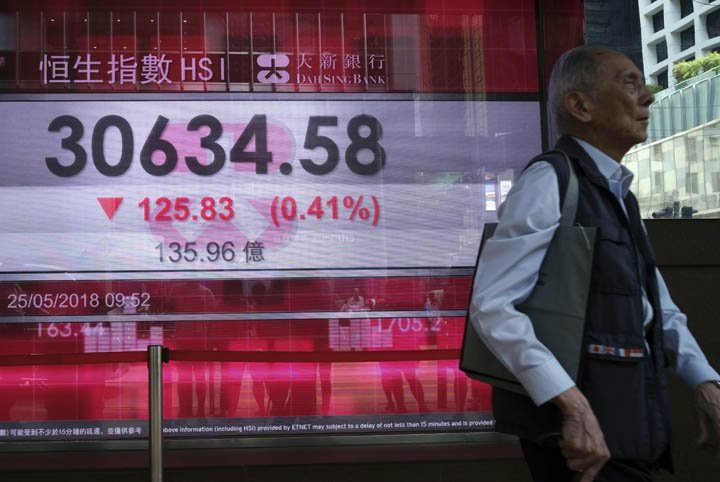 @BroadcastImagem: Bolsas asiáticas caem após Trump cancelar reunião com líder norte-coreano. Vincent Yu/AP