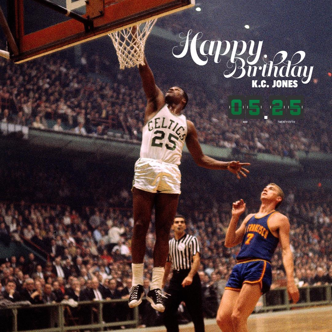 Happy Birthday to 8x @NBA Champion KC Jones ��☘ https://t.co/dz33hzfaSe