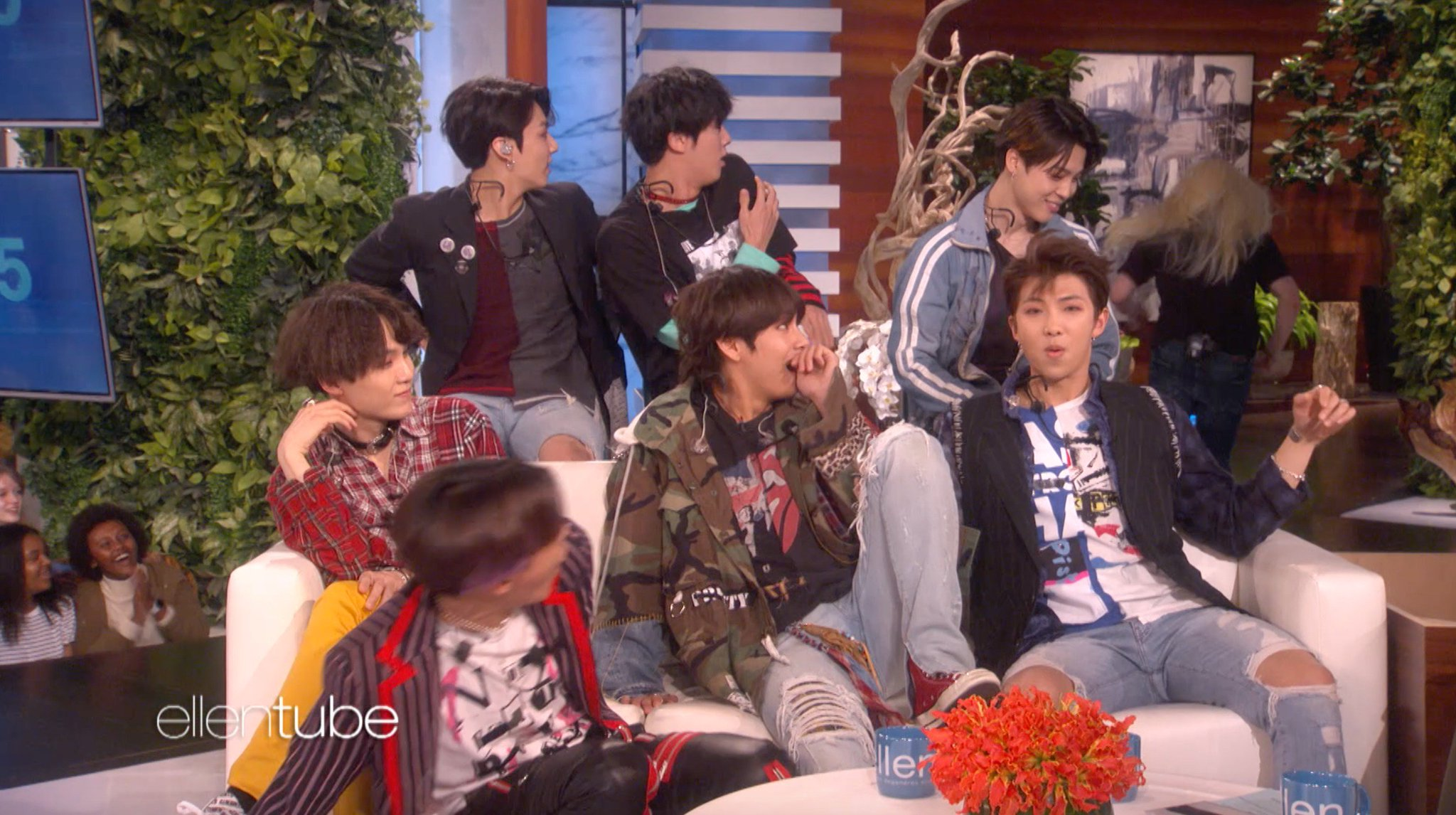 I scared the S out of BTS. @BTS_twt #BTSxEllen  Watch the full clip here: https://t.co/yb6o0xw9dT https://t.co/a7nuSmZ6Pv