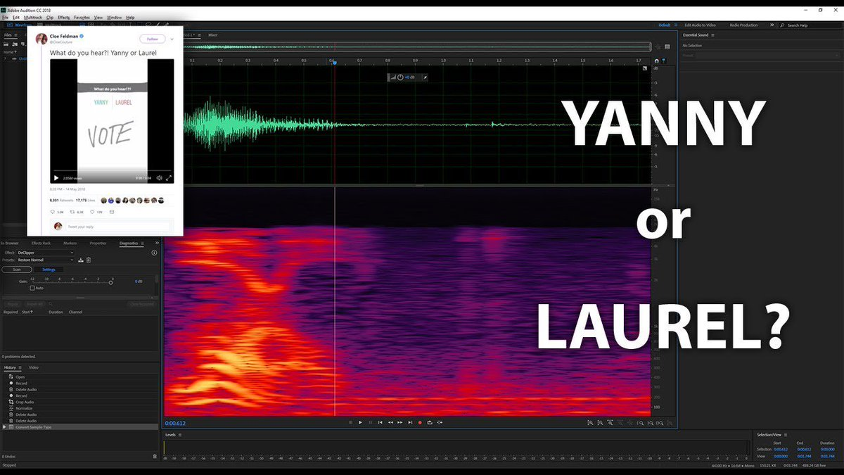 "test Twitter Media - Yanny vs. Laurel, pt. 2: Just when you thought you'd never have to worry about this vexing acoustic phenomenon again, ""Yanny vs. Laurel: an analysis by Benjamin Munson"" (5/16/18) and the comments thereto having carried out such a probing, exhaustive… https://t.co/2wAzNDP1Fe https://t.co/Nv14IFZznu"