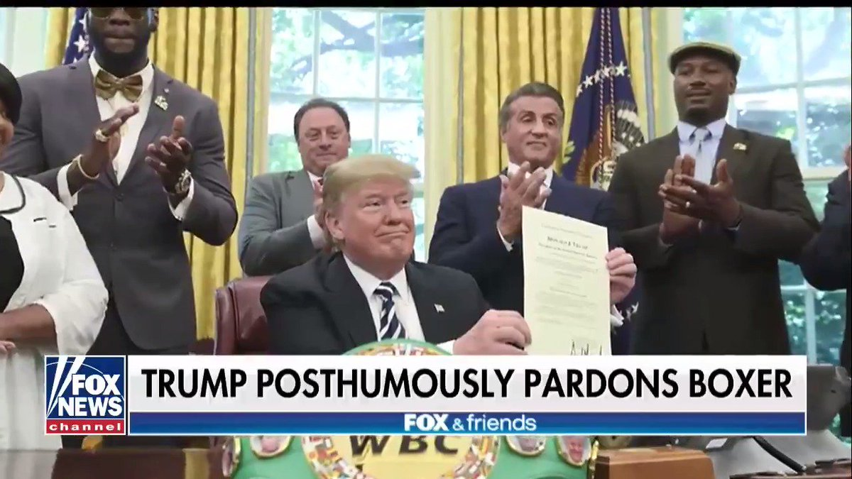 RT @foxandfriends: .@Scaramucci gives his take on President Trump posthumously pardoning Jack Johnson https://t.co/vklTMIvZpv