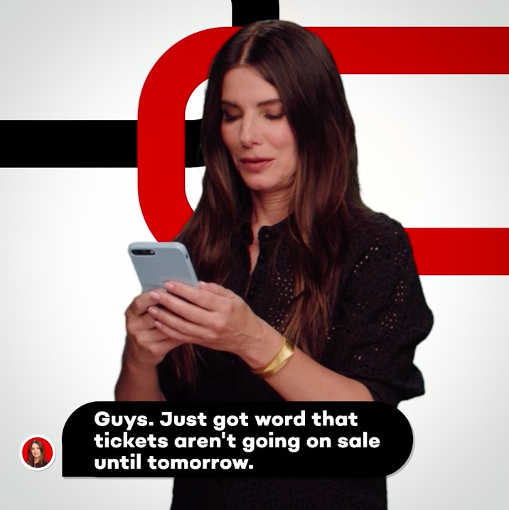 RT @oceans8movie: Game on. Tickets are now on sale! #Oceans8 - In theaters June 8. https://t.co/Ow6HXVDtMB https://t.co/c2E4B8nm3t