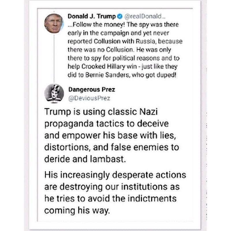 RT @mcspocky: tRump is using classic Nazi propaganda techniques... https://t.co/Tvk1cme3Ce