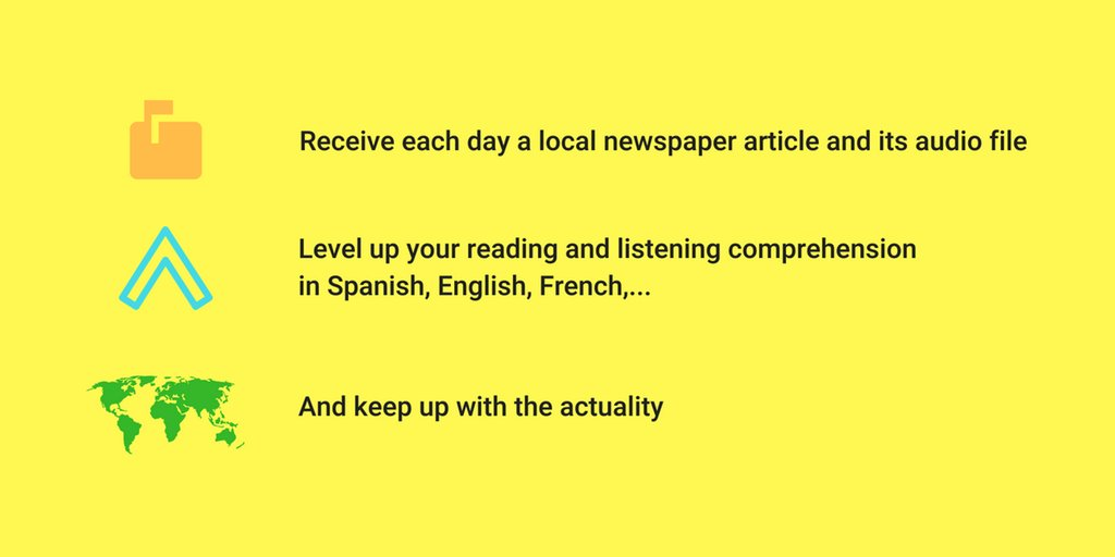 This Messenger bot helps you learn another language with local newspapers and audio files 💬 https://t.co/oychwaSzJP https://t.co/osQk7gHusd