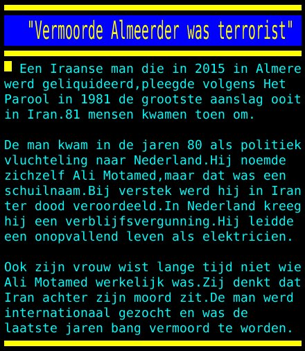"test Twitter Media - ""Vermoorde Almeerder was terrorist"" https://t.co/xfKVnmvpdN"