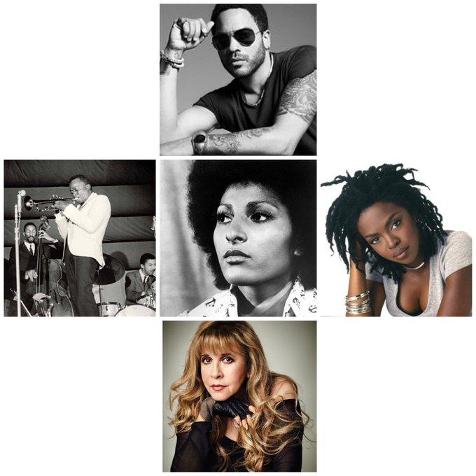 Happy birthday my fellow twinnies. (Lenny Kravitz, Lauryn Hill, Stevie Nicks, Miles Davis & Pam Grier.)