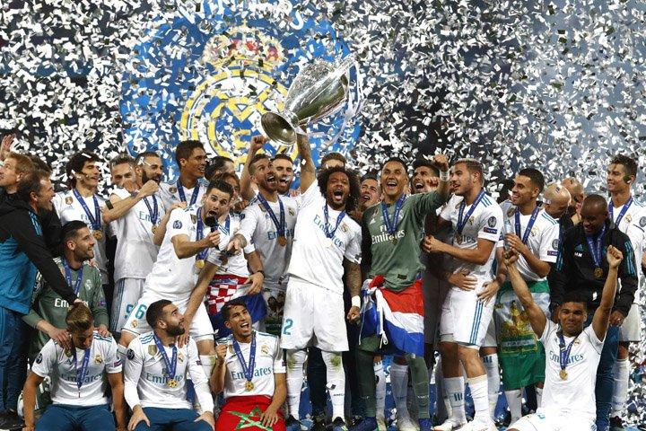 @BroadcastImagem: Real Madrid conquista o 13.º título da Liga dos Campeões. Matthias Schrader/AP