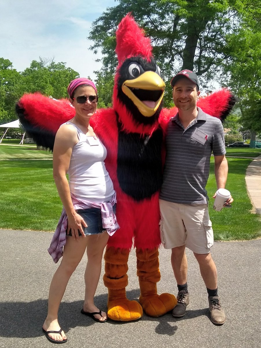 test Twitter Media - RT @Nathan_Camp: It's @HarperRoro , the @wesleyan_u   Cardinal, and some guy! #WesReunion #Wes2018 https://t.co/9O3iuMi3dr