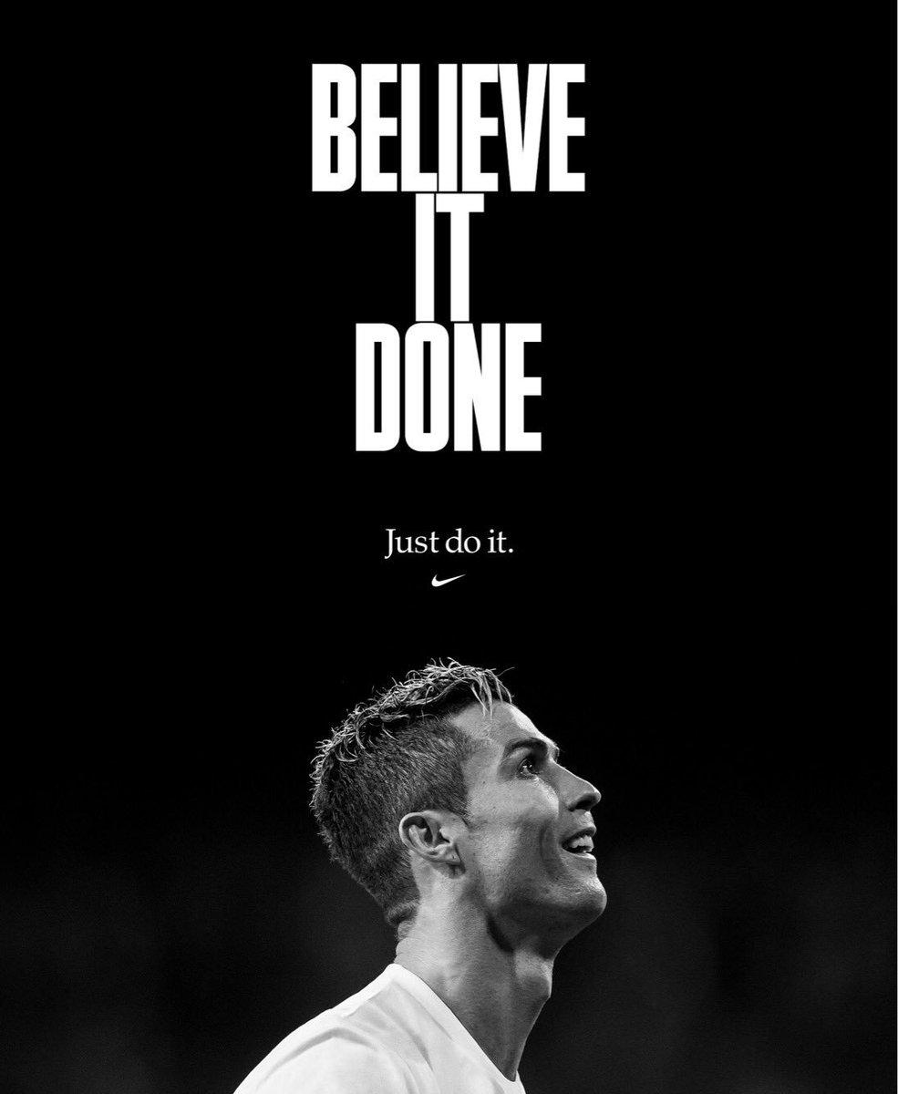Believe It Done. #JustDoIt -- #Nike #NikeFootball #NikeSoccer https://t.co/HJSlxDRJI0