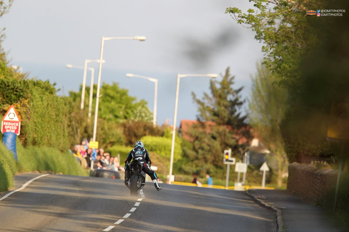 test Twitter Media - Pic of Michael Dunlop on the way into signpost corner. #iomtt #iomtt2018 https://t.co/KnCXNMmeMv