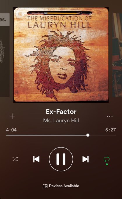 Happy birthday to this legend, Lauryn Hill. Ex-factor will always speak directly to my soul