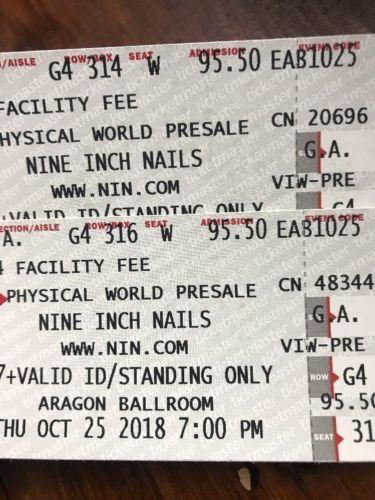 Nine Inch Nails tickets x2 (Aragon Ballroom) 10-25 Chicago https://t.co/3IpZgvVP2Y https://t.co/t1x8gOC3DN