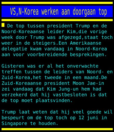 test Twitter Media - VS,N-Korea werken aan doorgaan top https://t.co/qFasZkiqk7