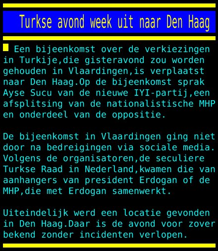 test Twitter Media - Turkse avond week uit naar Den Haag https://t.co/Snd4NlmvlN