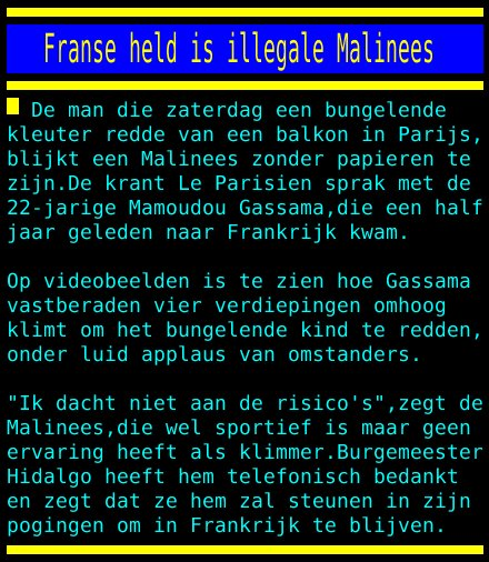 test Twitter Media - Franse held is illegale Malinees https://t.co/ua6Wf8FyG6