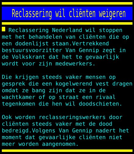 test Twitter Media - Reclassering wil cliënten weigeren https://t.co/PLcY3sVjZ6