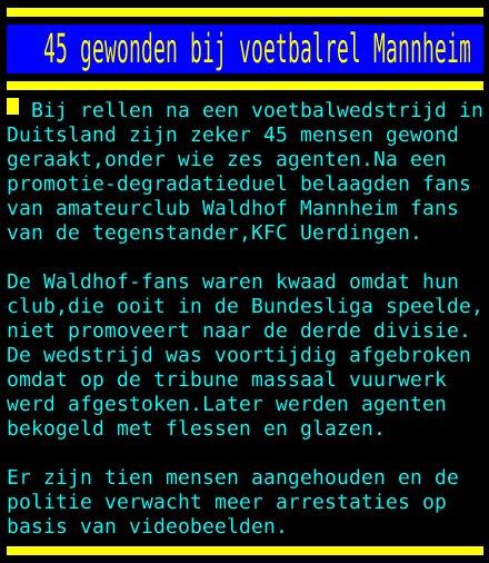 test Twitter Media - 45 gewonden bij voetbalrel Mannheim https://t.co/Vrv4StLdGF