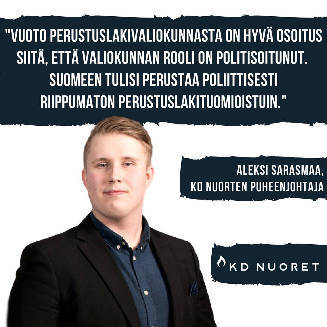 test Twitter Media - KD Nuoret esittää perustuslakituomioistuimen perustamista Suomeen. Lue kannanotto: https://t.co/fw2tOOhPZp  #perustuslaki https://t.co/G5qXYgxwyd