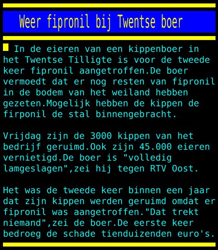 test Twitter Media - Weer fipronil bij Twentse boer https://t.co/28RRS6cM2T