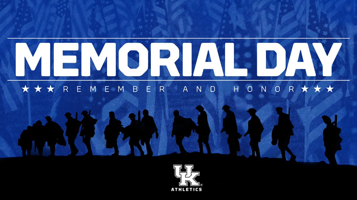 RT @UKAthletics: We owe everything to our heroes. Thank you. #MemorialDay https://t.co/XSC91vd4k9