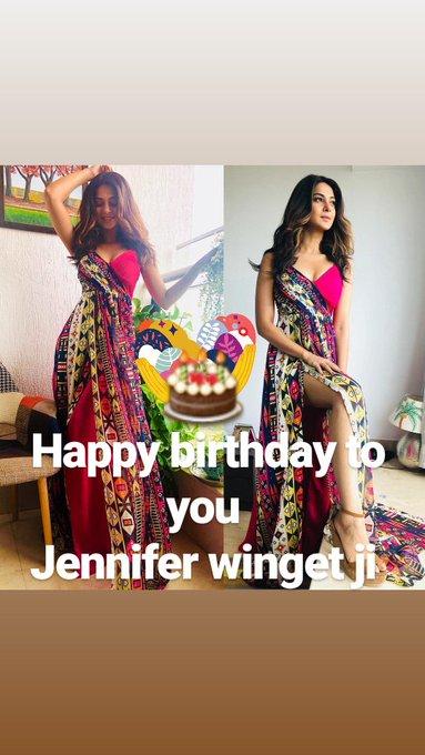 Whiss you very very very happy happy Happy birthday to you jennifer winget ma\am