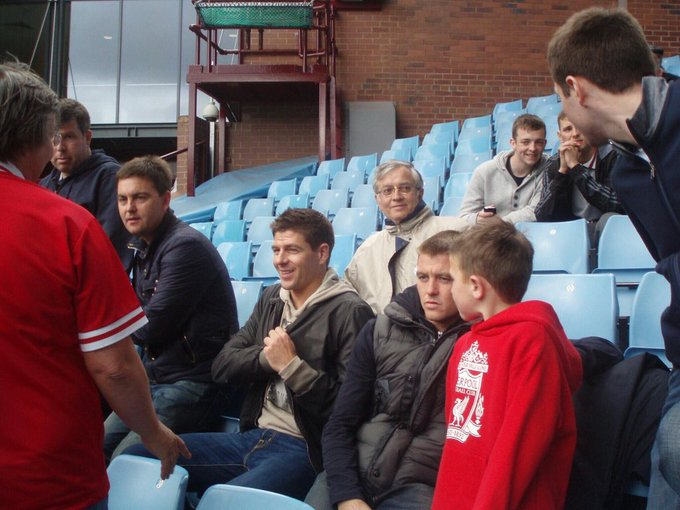 Happy birthday Steven Gerrard. That s me sitting behind you; Villa Park, last match of 2010-11 season.
