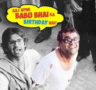 Aaj Apne BaBu Bhai Ka Birthday Hai Paresh Rawal Babu bhai happybirthday