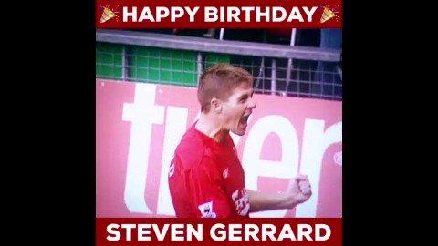 Happy birthday to legend Steven Gerrard!