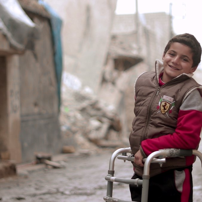 10-year-old Abdallah's life was turned upside down, but he's not giving up hope. https://t.co