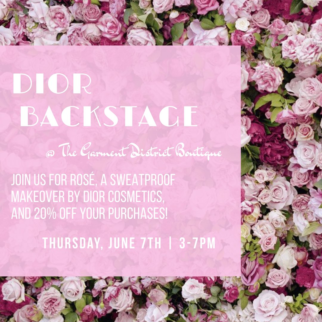Join us next Thursday before #hcnkc for Sweat-proof makeovers from The Dior Backstage team!!