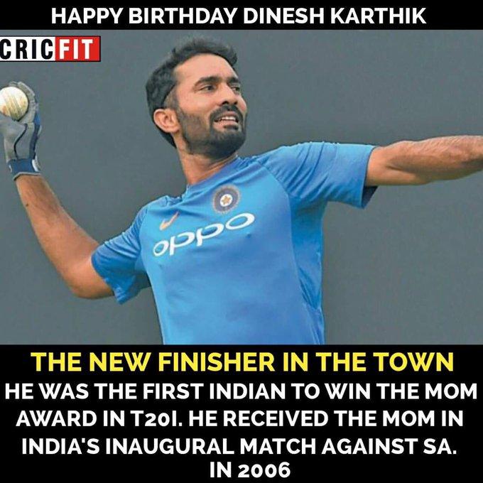 Happy Birthday Dinesh Karthik!
