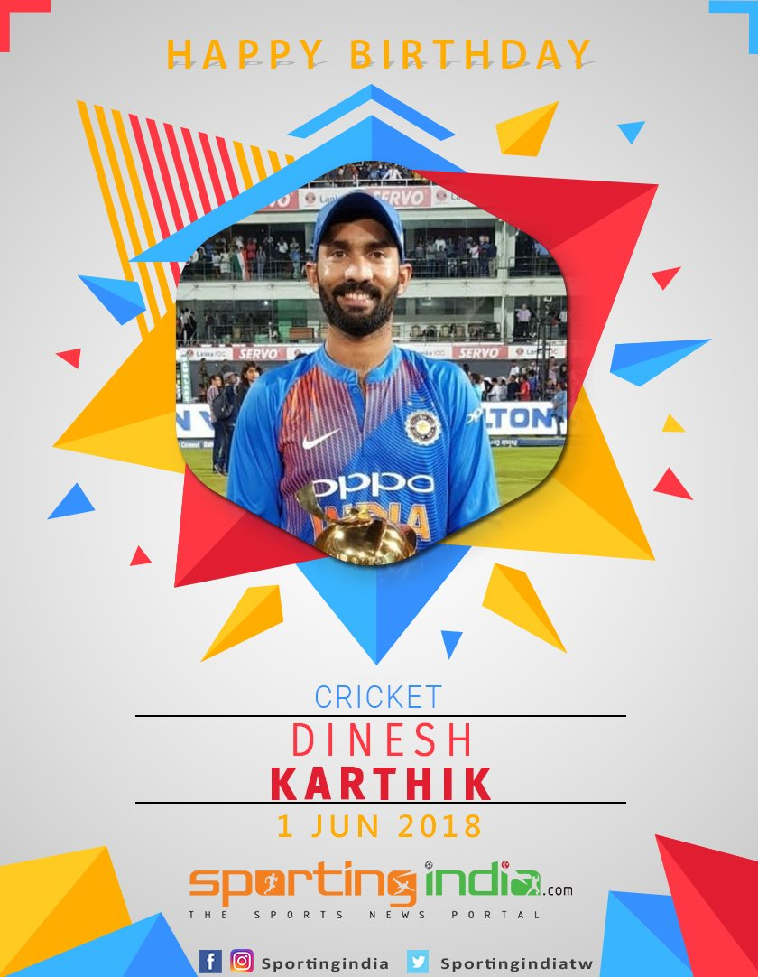 Happy Birthday Dinesh Karthik
