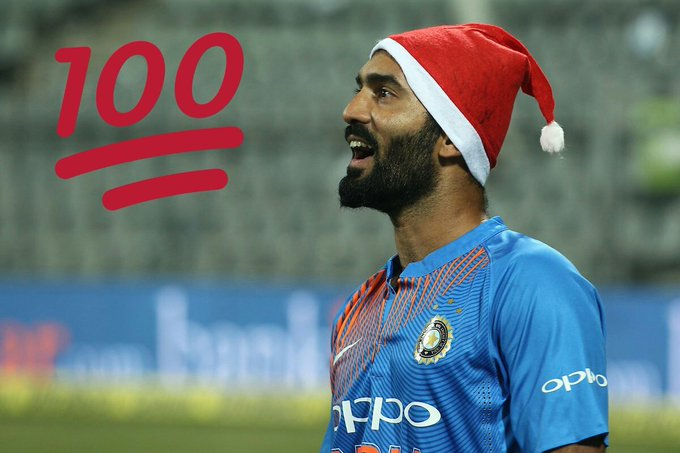 Happy birthday  young  dynamic player  Dinesh karthik
