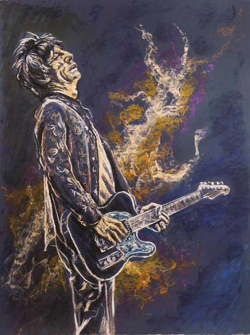 Happy Birthday Ron Wood, a guitarist and a painter. Two of my favourite things ....