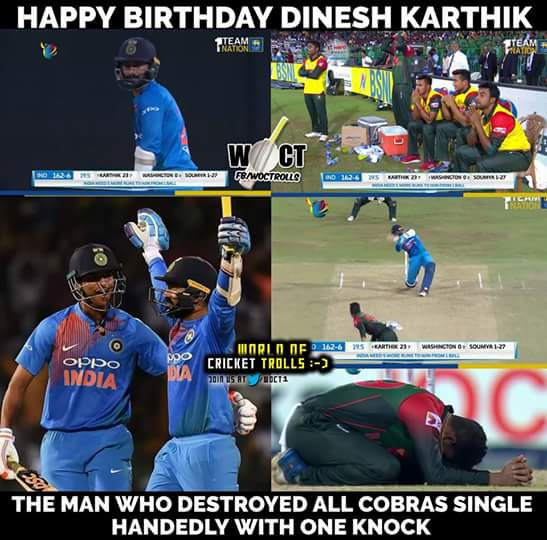Dinesh Karthik Test career:  Scored exactly 1000 Runs!  Played exactly 2000 Balls!  Happy Birthday DK