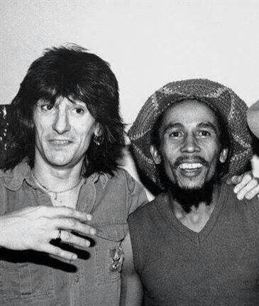 Ron Wood Happy Birthday ,, here with Bob Marley .. Ronnie lovely guy