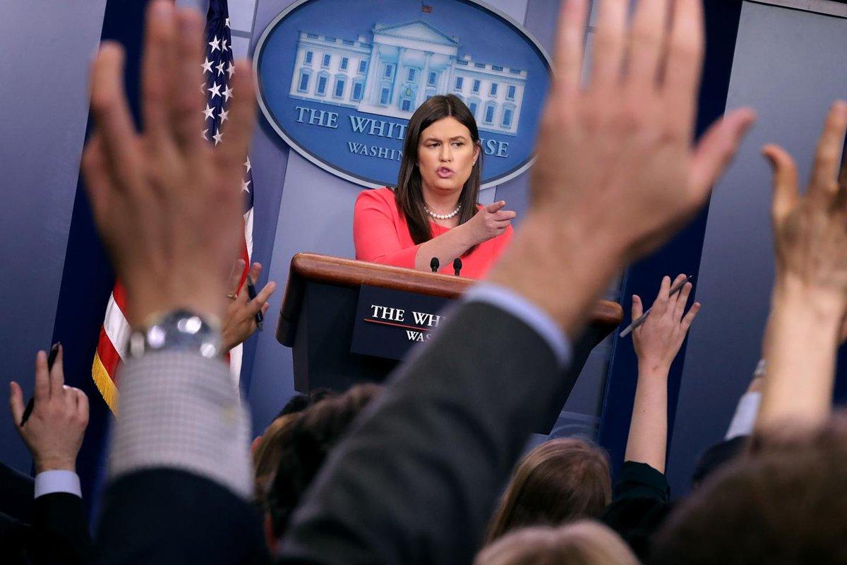 Sarah Sanders's press briefings are getting shorter as Trump's rate of mistruths is growing