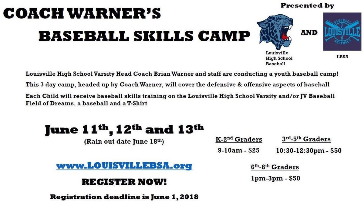test Twitter Media - Coach Warner's Baseball Skills Camp! Last Day to Register is Today! https://t.co/iADEeRtBah