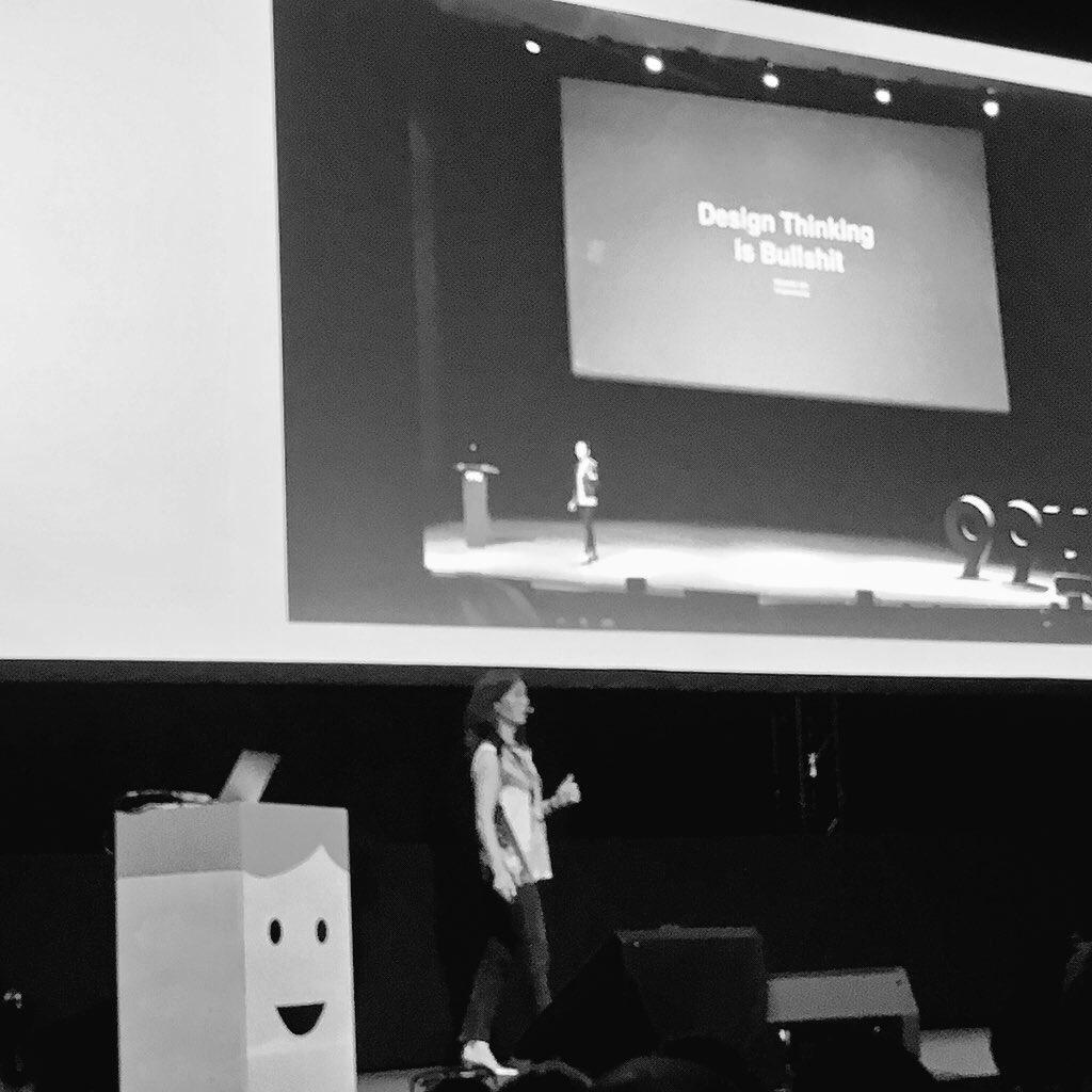 Natasha Jen at the #europeandesignfestival in Oslo. 'Design Thinking is Bullshit' https://t.co/3zQIrspK3n