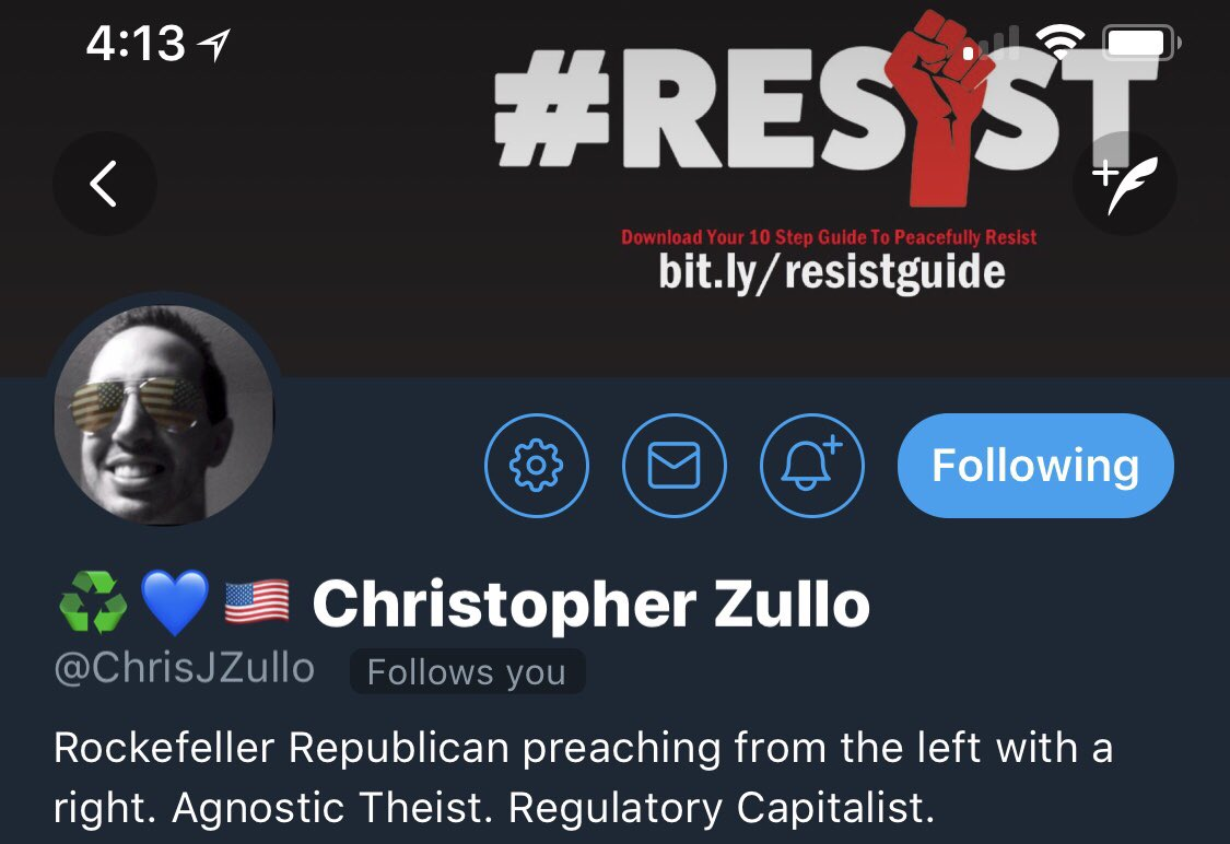 RT @ChrisJZullo: Join me in the battle for the soul of our nation. Stay notified of my tweets. Ring the 🛎 https://t.co/4AQk7ZgXem