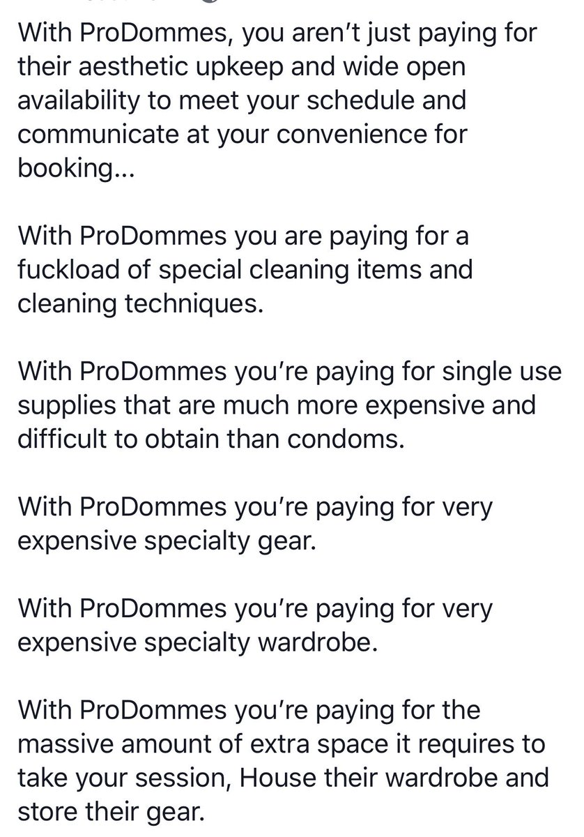 1 pic. The HIGH COSTS of reputable ProDommes, getting what you desperately need on the schedule that