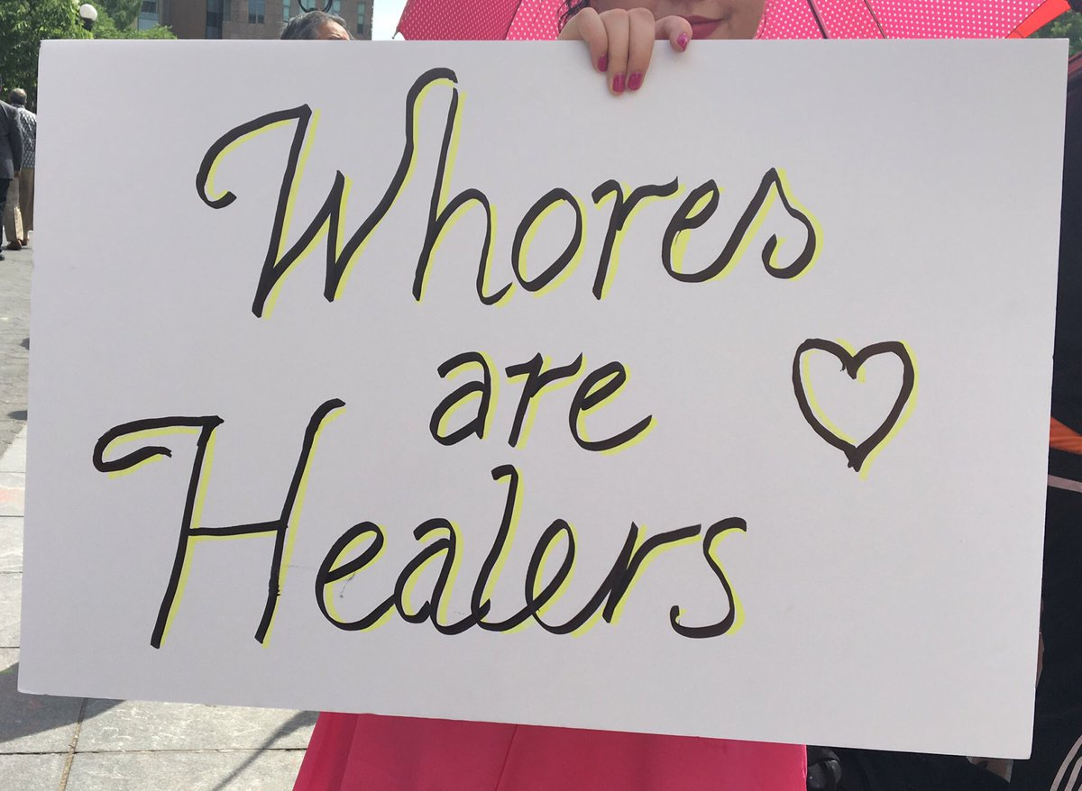 3 pic. Just a few of my fave signs from the #InternationalSexWorkerDay march VCsJXy6JEn
