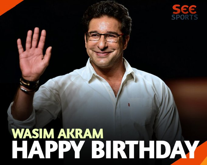 We wish you a very Happy Birthday Wasim Akram!